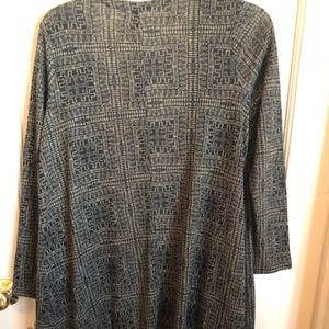 LuLaroe Sweaters - Lularoe Sarah Size Small Black/Brown Print